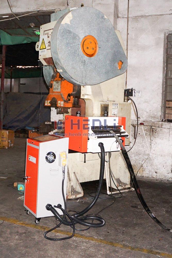 servo feeder working with mechanical punch press