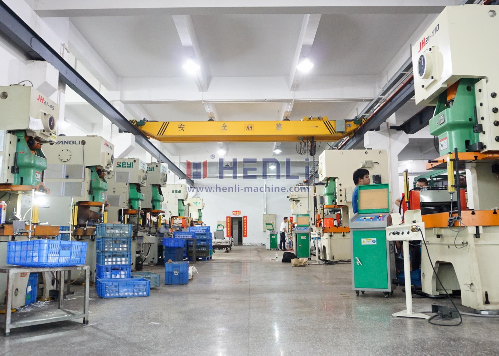 workshop equipped with nc servo roll feeder