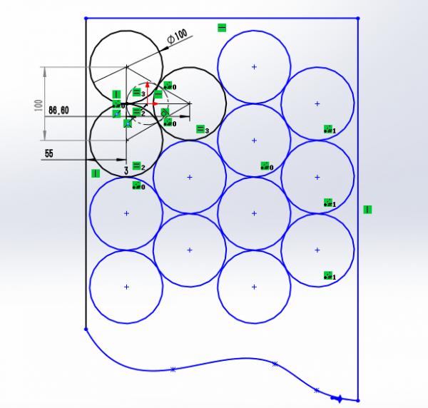 zigzag feeding arrangement and motion track