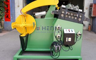 2 in 1 uncoiler and leveler machine