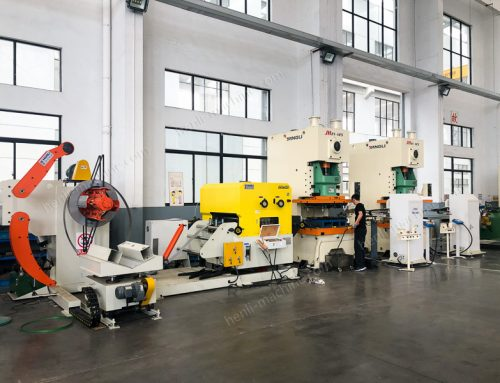 Press Stamping Line with Robot Arm