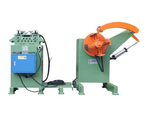 Two in one heavy uncoiling and leveling machine